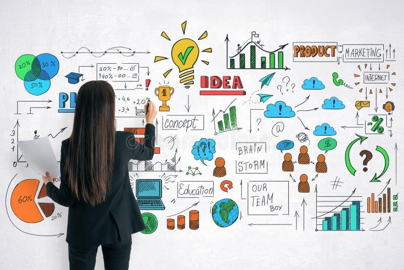 Concept de finances et d'idée images stock