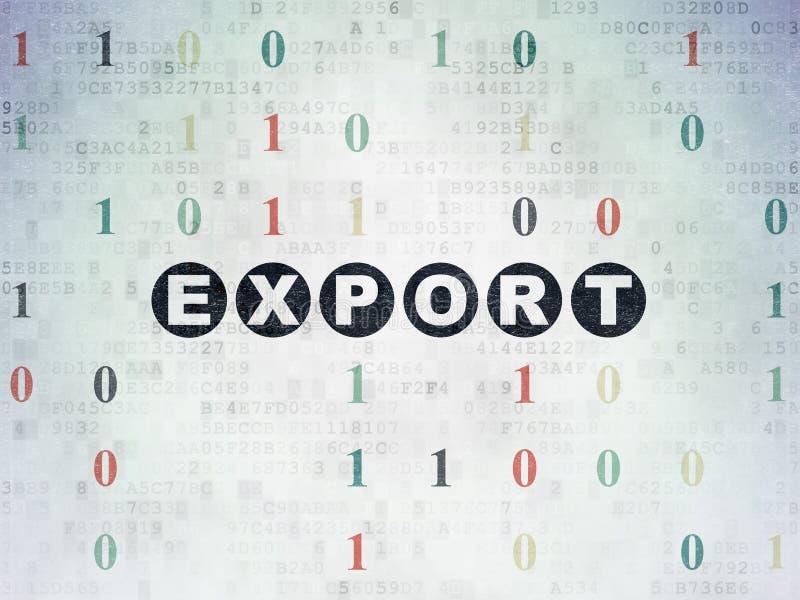 Concept de finances : Exportation sur le fond de papier de données numériques illustration de vecteur