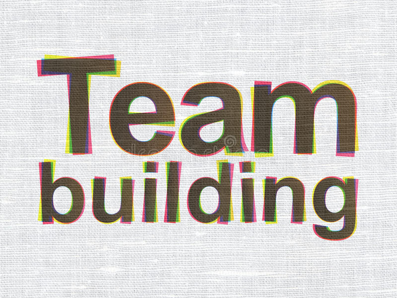 Concept de finances : Team Building sur la texture de tissu illustration stock