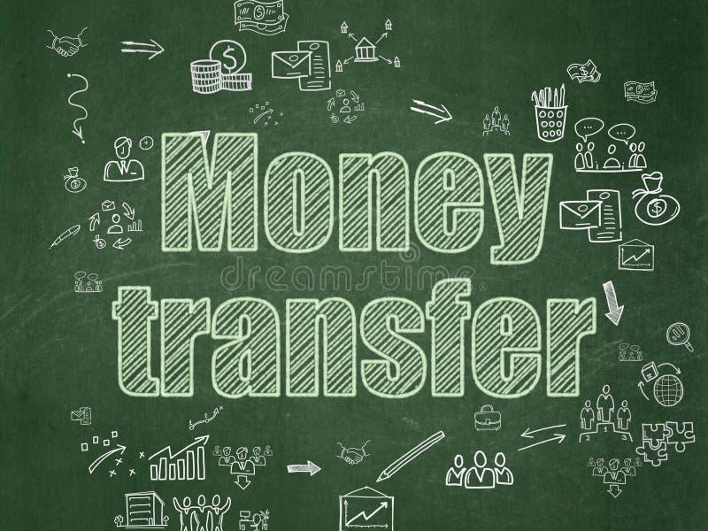 Concept de finances : Transfert d'argent sur le conseil pédagogique illustration libre de droits