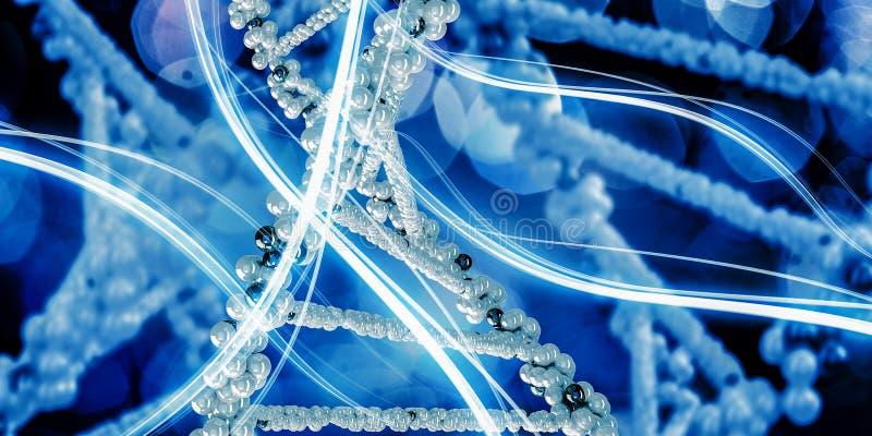 Concept de fond de biotechnologie illustration stock