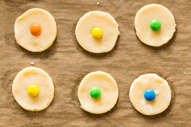 Concept de fond de biscuits de cuisson photo stock