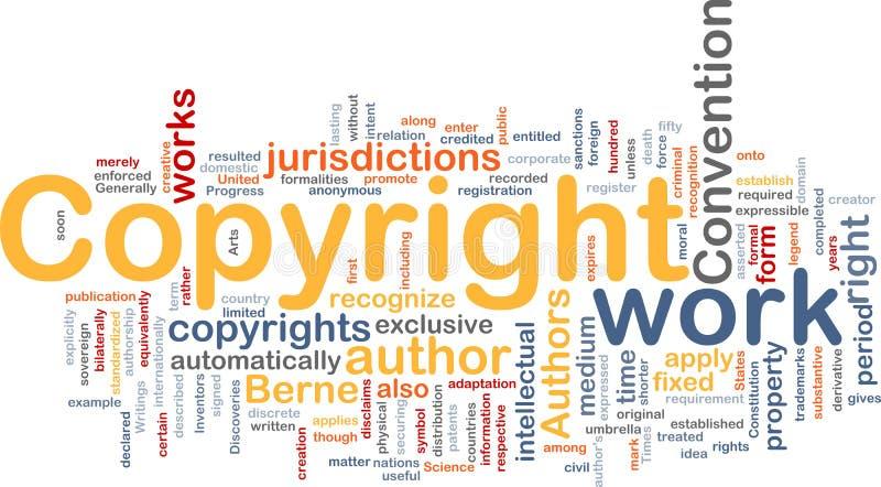 Concept de fond de convention de copyright illustration de vecteur