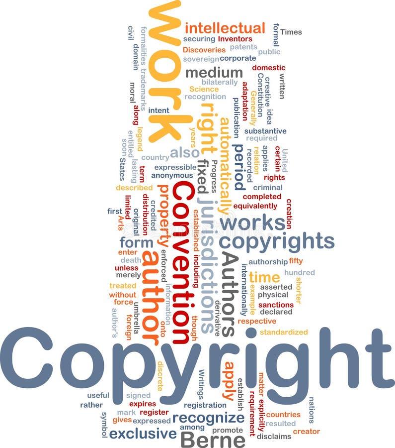 Concept de fond de convention de copyright illustration libre de droits