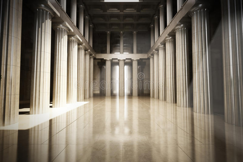 Pièce vide intérieure de colonne photo libre de droits