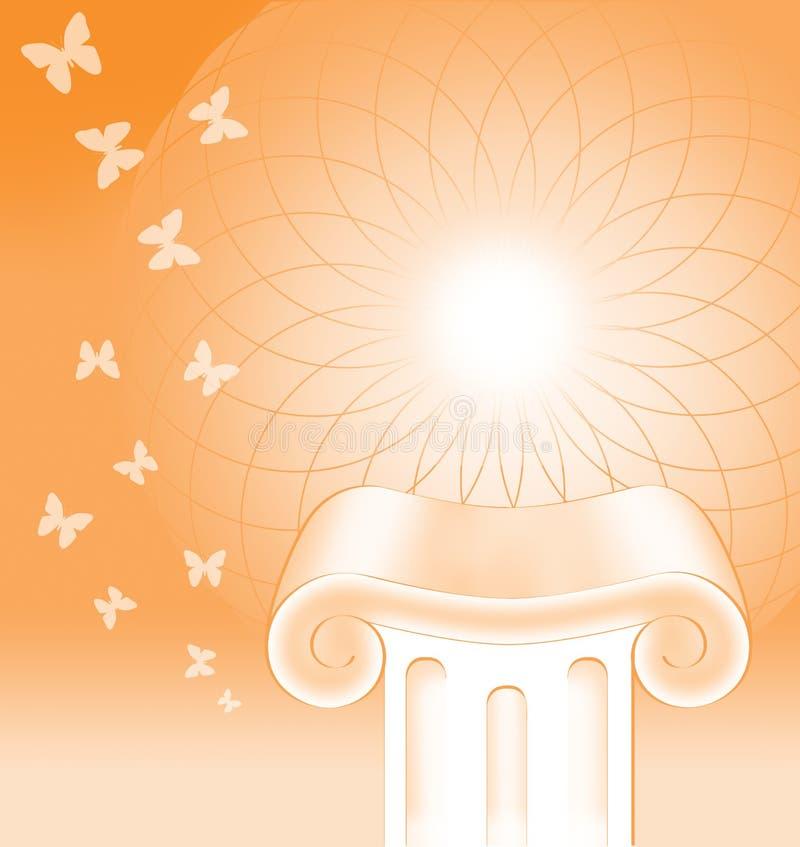 Concept de fond de pilier illustration stock