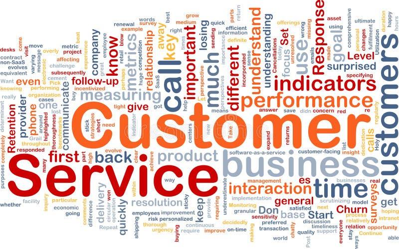 Concept de fond de service à la clientèle illustration libre de droits