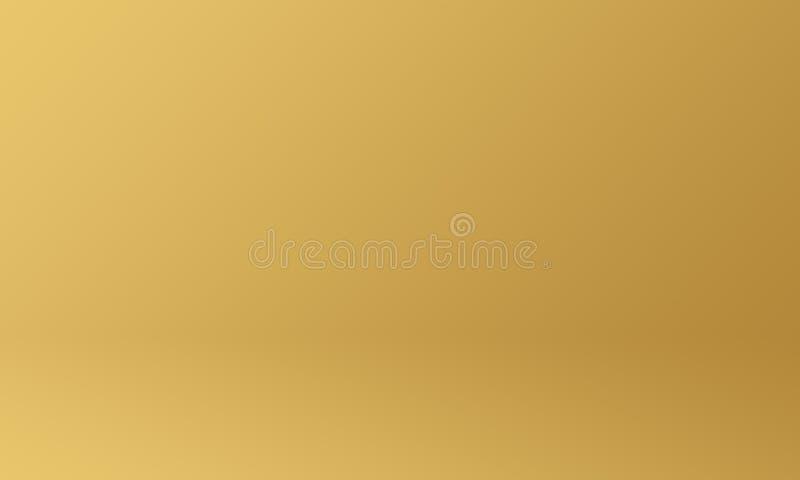 Concept de fond de studio - fond lumineux de Halloween de mur de pièce de studio de gradient d'or jaune illustration libre de droits