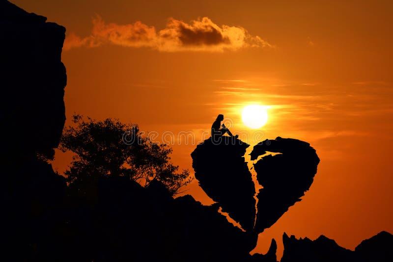 Concept de fond de Valentine de silhouette photos libres de droits