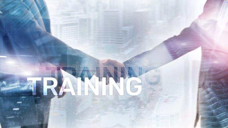 Concept de formation d'affaires E Concept financier de technologie et de communication photos libres de droits