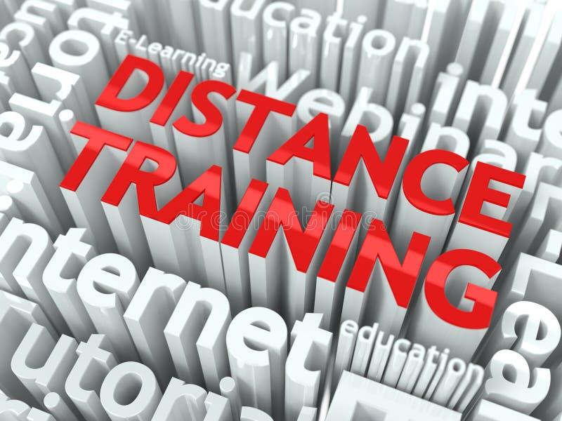 Concept de formation de distance. illustration de vecteur