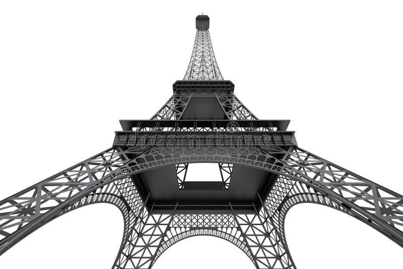 Concept de Frances Tour Eiffel de Paris rendu 3d illustration stock