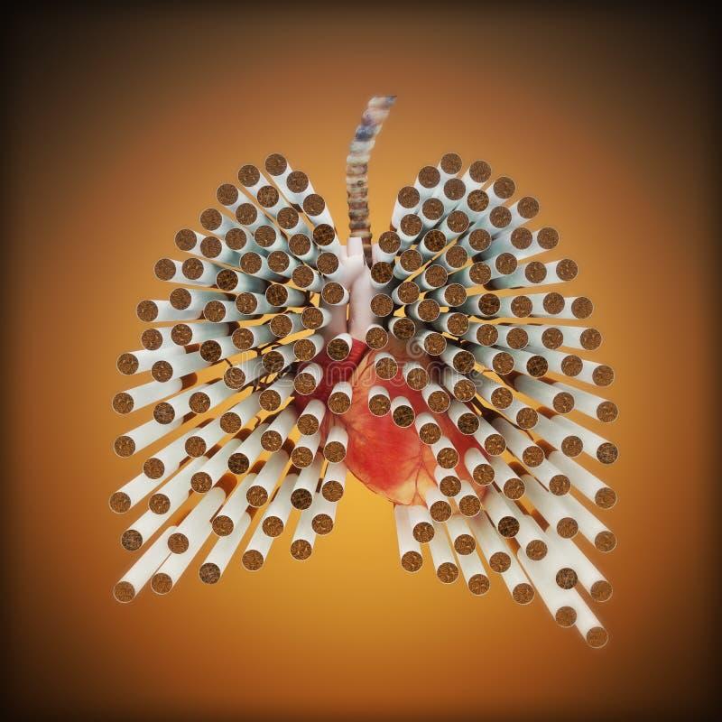 Concept de fumage de mises à mort illustration de vecteur