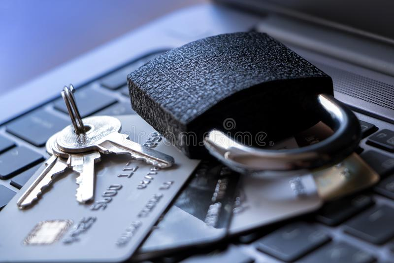 Concept de garantie de carte de crédit photos libres de droits