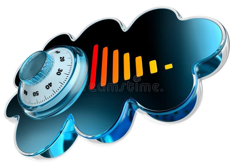 Concept de garantie de calcul et de mémoire de nuage illustration de vecteur