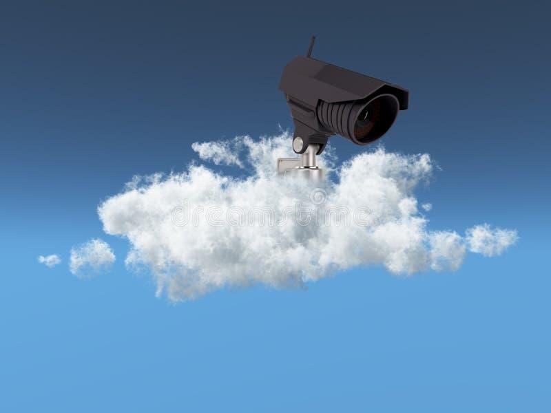 Concept de garantie de nuage illustration stock