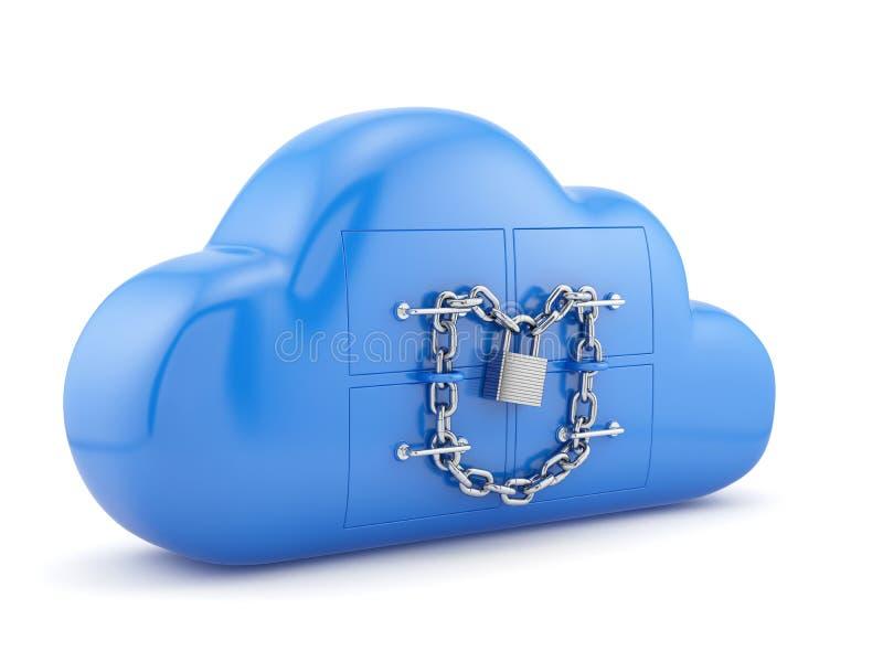 Concept de garantie de nuage illustration libre de droits