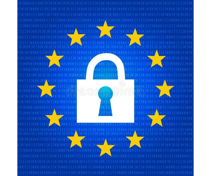 Concept de Gdpr, protection des donn?es, serrure verrouill?e image libre de droits