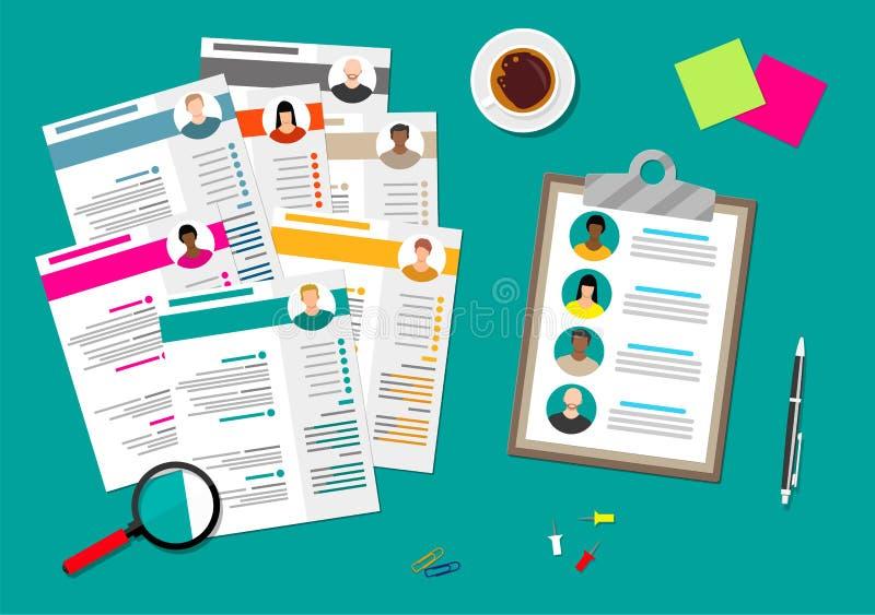 Concept de gestion de ressources humaines illustration de vecteur