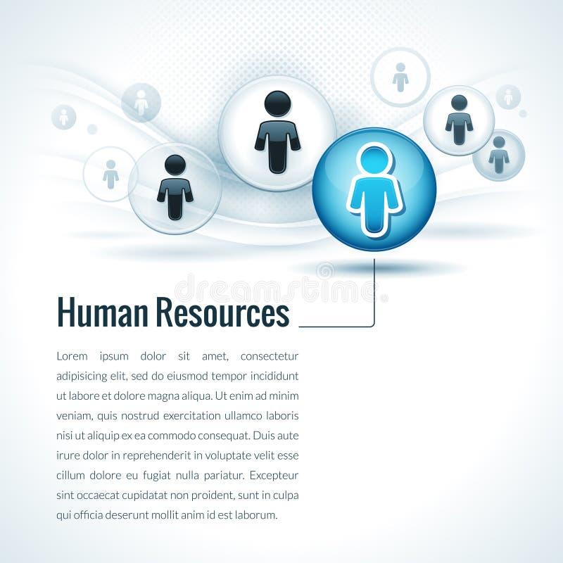 Concept de gestion de ressources humaines de vecteur illustration de vecteur