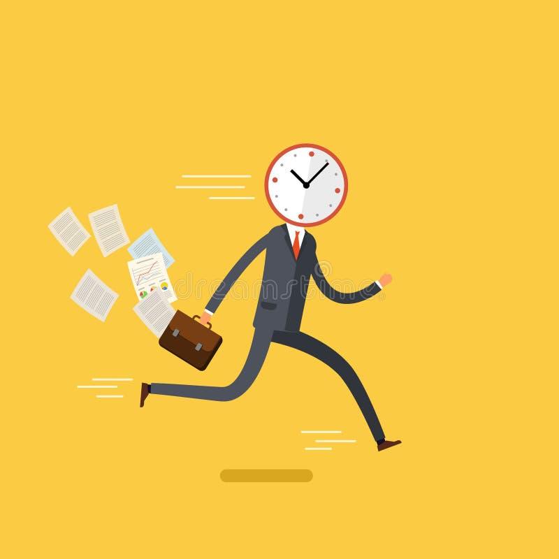 Concept de gestion de temps utile illustration de vecteur