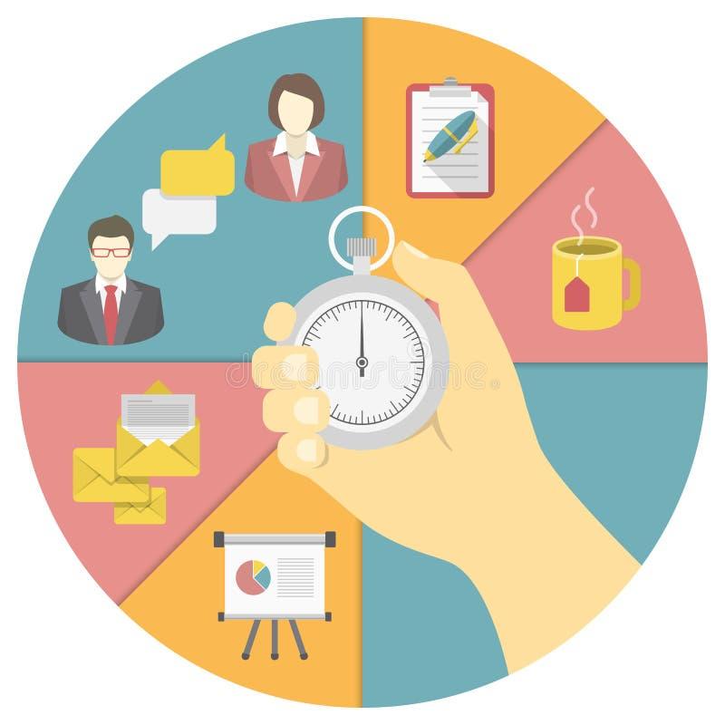 Concept de gestion du temps illustration libre de droits