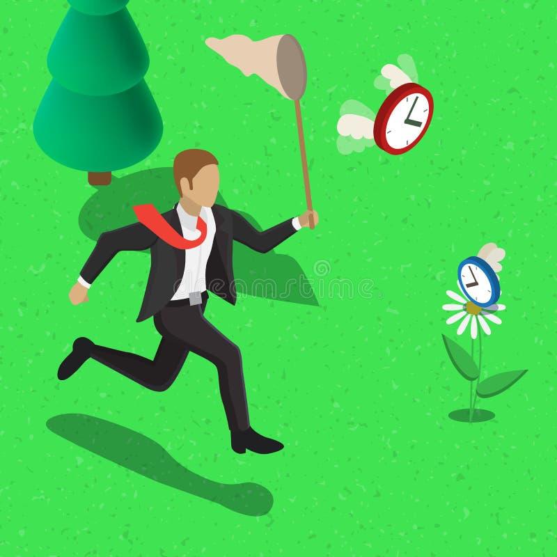 Concept de gestion du temps illustration stock