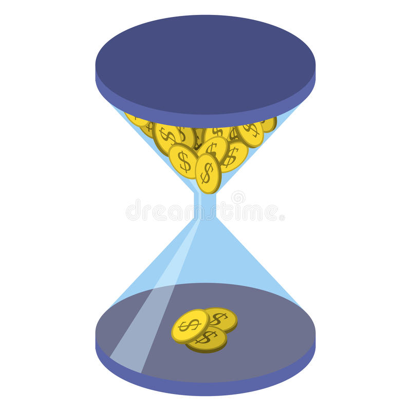 Concept de gestion du temps illustration stock