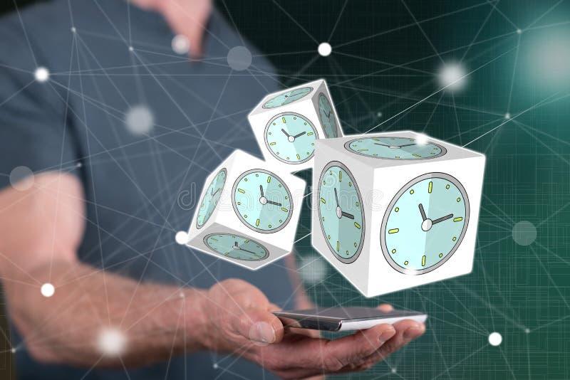 Concept de gestion du temps images libres de droits