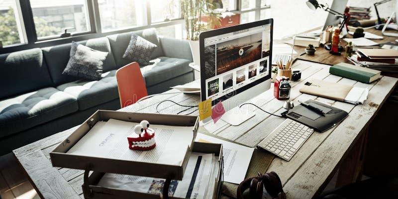 Concept de gestion prévisionnelle de jeune entreprise de lieu de travail photographie stock libre de droits