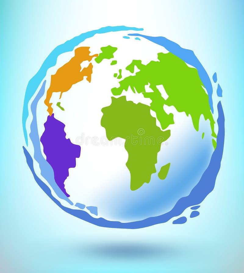 Concept de globe. illustration libre de droits