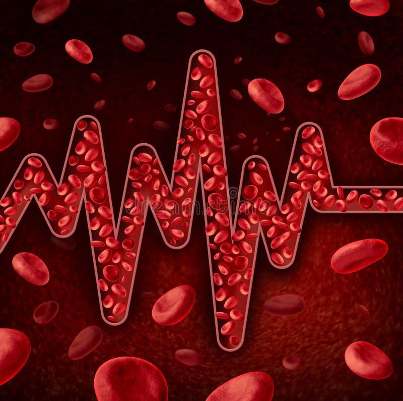 Concept de globules sanguins illustration de vecteur
