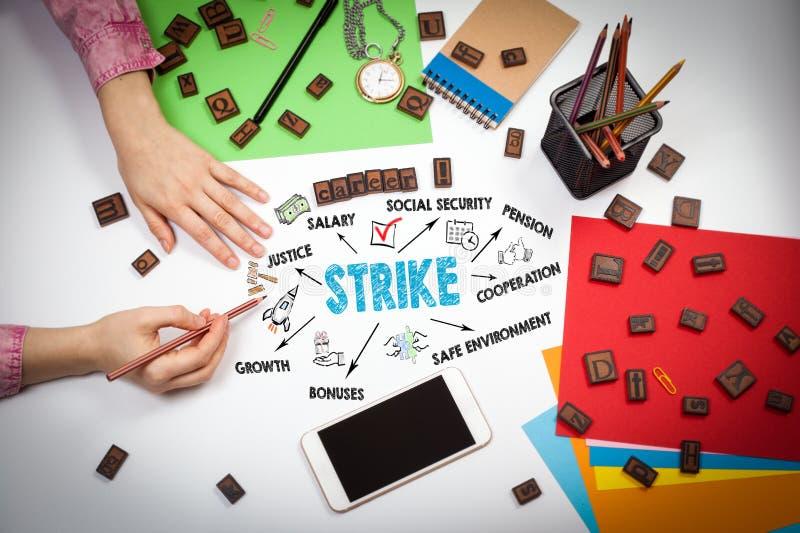 Concept de grève et de droit du travail image libre de droits