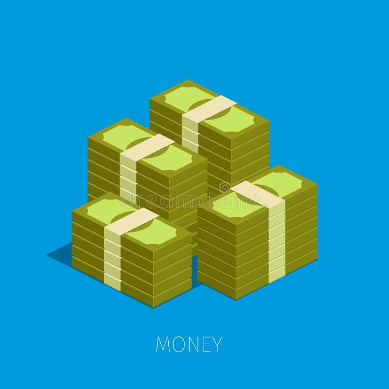 Concept de grand argent illustration stock