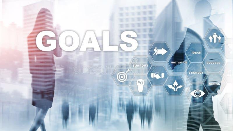 Concept de graphique d'accomplissement d'attentes de buts de cible E photographie stock libre de droits