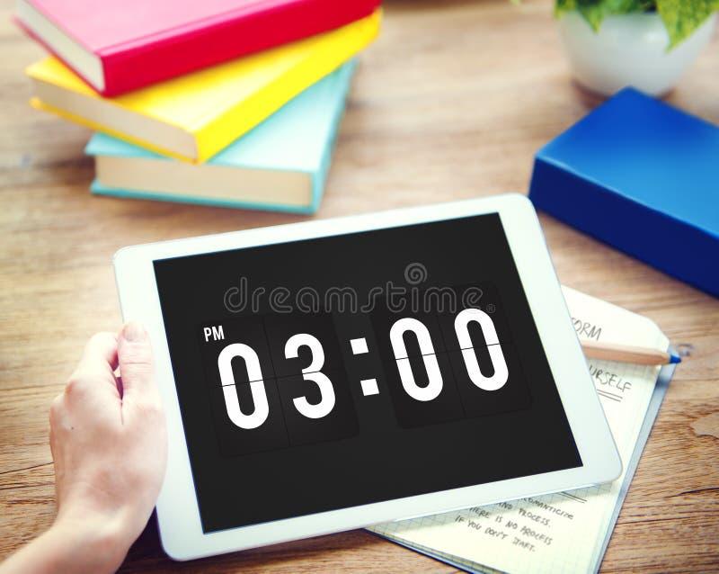 Concept de graphique d'horloge de date et heure photographie stock