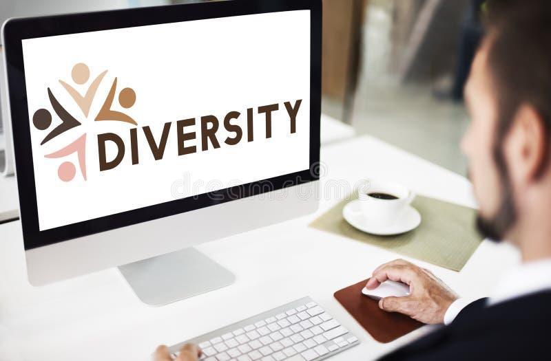 Concept de graphique d'unité d'unité de Nationalitise de diversité photo stock