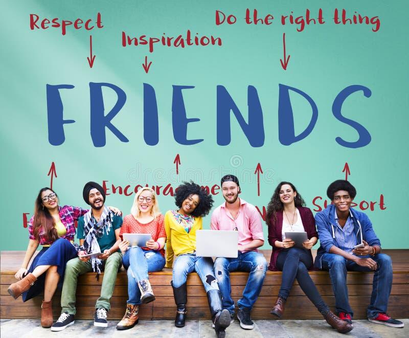 Concept de graphique de diagramme d'inspiration d'amis photos libres de droits