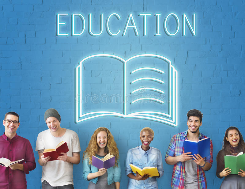 Concept de graphique de qualifications d'intelligence d'amélioration d'éducation illustration libre de droits