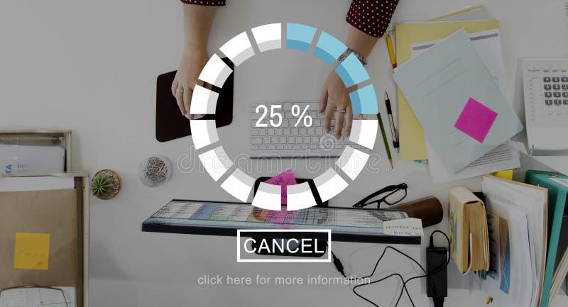 Concept de graphique de technologie de l'information de téléchargement de charge photos libres de droits