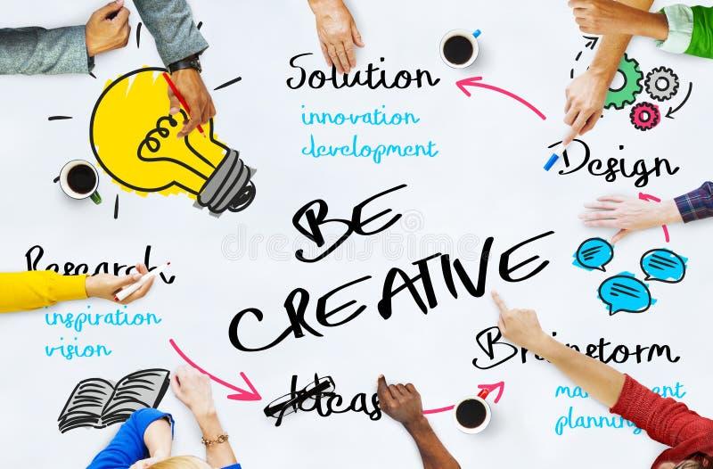 Concept de graphiques de processus de conception de créativité illustration de vecteur