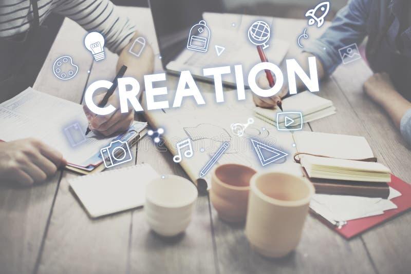 Concept de graphiques de processus de conception de créativité image libre de droits