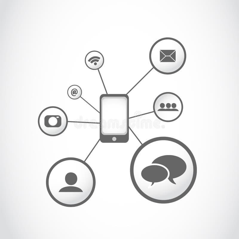 Concept de graphisme d'apps de Smartphone illustration libre de droits