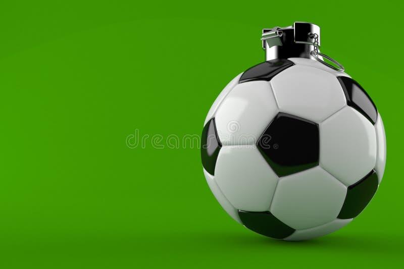 Concept de grenade à main de ballon de football illustration libre de droits