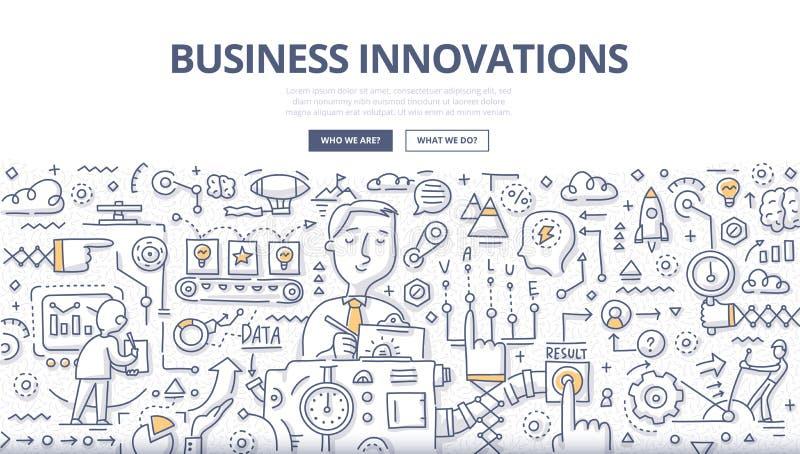 Concept de griffonnage d'innovations d'affaires illustration libre de droits