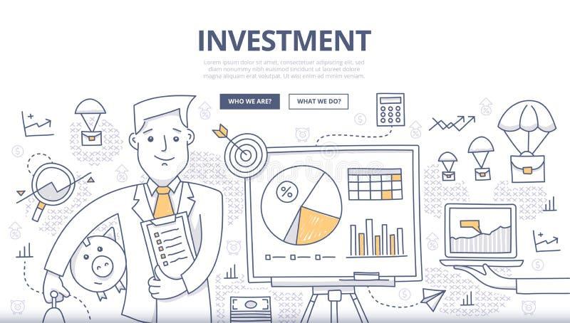 Concept de griffonnage d'investissement illustration de vecteur