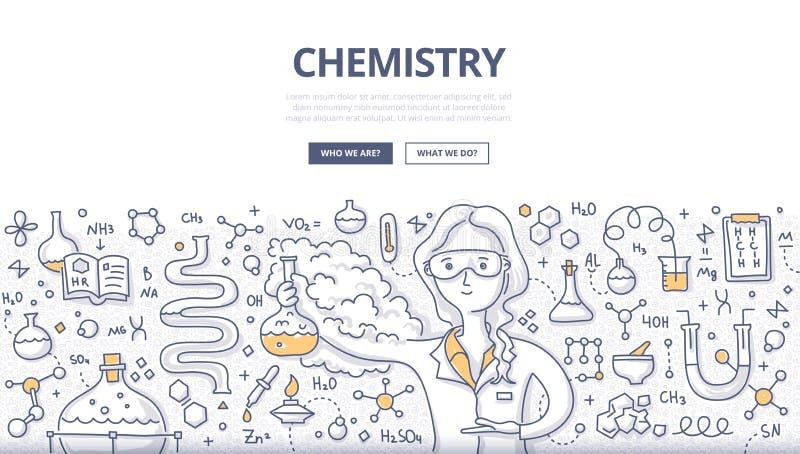 Concept de griffonnage de chimie illustration libre de droits