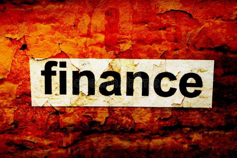 Concept de grunge de finances illustration de vecteur