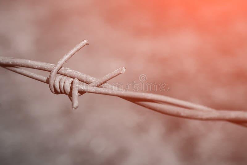Concept de guerre : Dénudé de câble photo stock