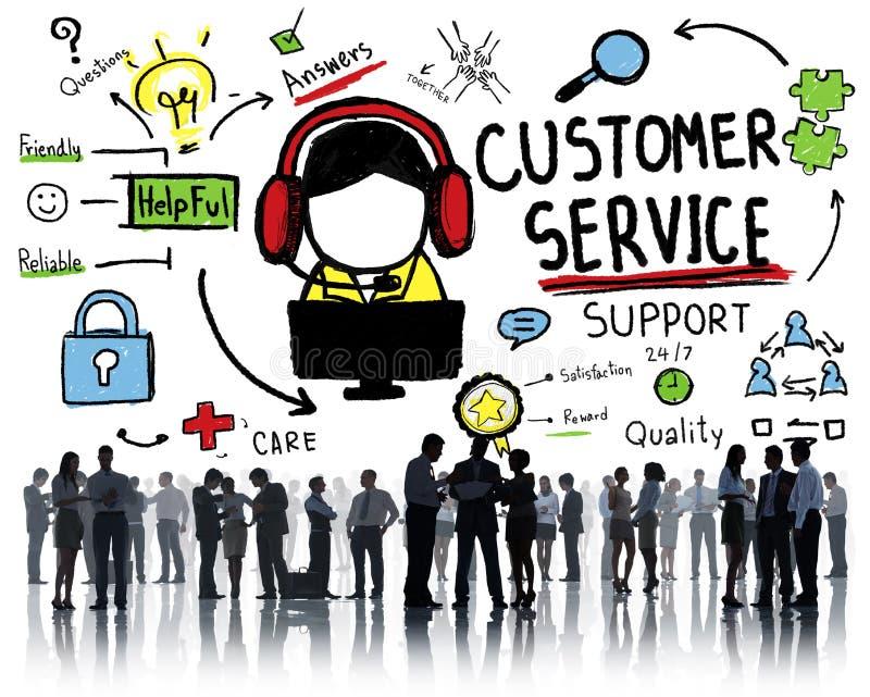 Concept de guide d'aide de service d'aide de soutien de service client illustration libre de droits